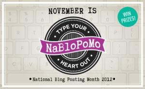 NaBloPoMo  November 2012