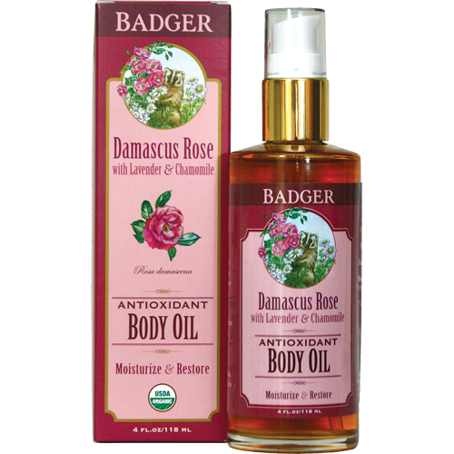Review badger balm damascus rose antioxidant body oil oh look krill - Rose essential oil business ...